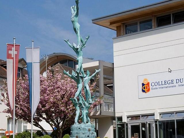 Trường quốc tế Collège du Léman, Thụy Sĩ, học phí 84.760 USD/năm. Trường nhận trẻ em từ một tuổi ở 100 quốc gia. Các giáo viên tại đây dạy chương trình song ngữ tiếng Pháp và tiếng Anh cho tới khi các em 18 tuổi. Khuôn viên của Collège du Léman rộng 8 ha có thể đi vào thành phố hoặc lên núi.