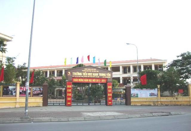 Trường Tiểu học Nam Trung Yên, nơi xảy ra vụ tai nạn nghiêm trọng đối với học sinh Kiên. Ảnh TL