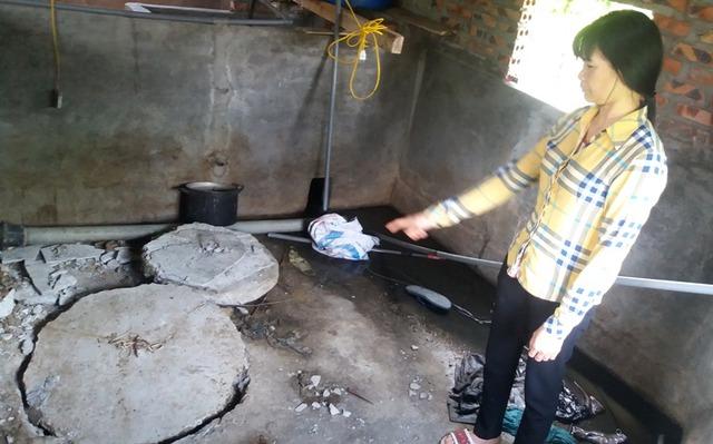 Khu vực hầm biogas khiến 3 anh em ruột tử vong. Ảnh: Đ.Tuỳ