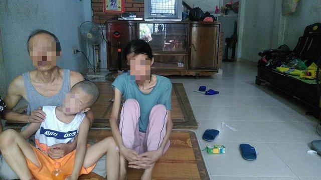 Gia đình chị Nguyễn Thị Điệp. Ảnh: Ngọc Thi