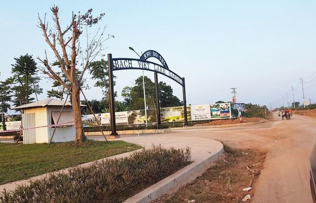 Cổng chào của Khu đô thị Bách Việt Lake Garden
