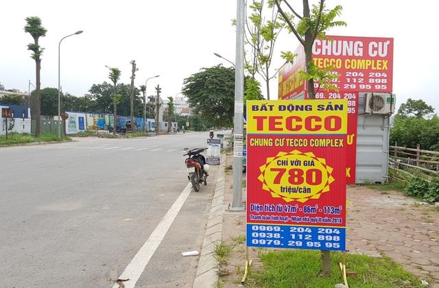 Rao bán căn hộ khi chưa được phép, Tecco đã bị huyện Thanh Trì tuýt còi.