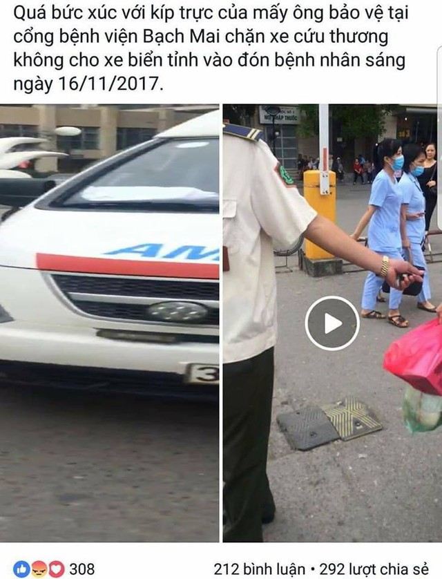 Hình ảnh clip được một người dùng facebook chia sẻ ngày 17/11.