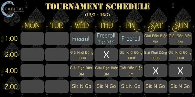 Lịch Tournament được đăng thông báo công khai trên Facebook.