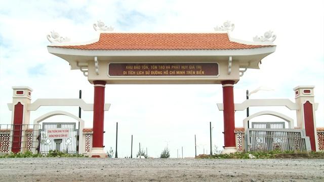 Khu bảo tồn, tôn tạo và phát huy giá trị di tích lịch sử đường Hồ Chí Minh trên biển. Ảnh: Chu Phương