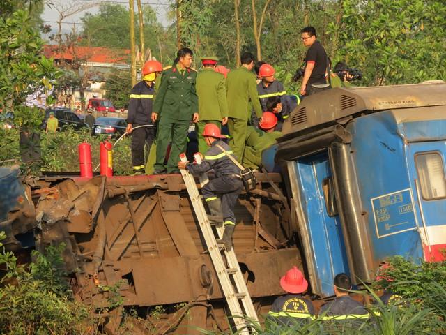 Vụ tai nạn tàu hỏa nghiêm trọng khiến nhiều người thương vong. Ảnh: L.C