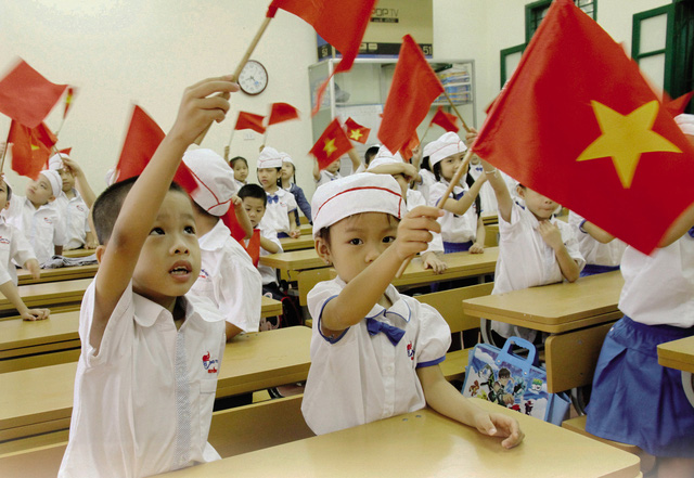 Thế hệ mầm non đầy hứa hẹn của Giáo dục Việt Nam. Ảnh: Chí Cường
