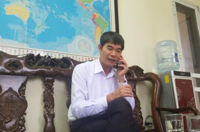 Ông Nguyễn Hữu Vỵ - Chủ tịch UBND xã Tân Triều trong buổi làm việc với PV Báo Gia đình & Xã hội.     Ảnh: Đông An