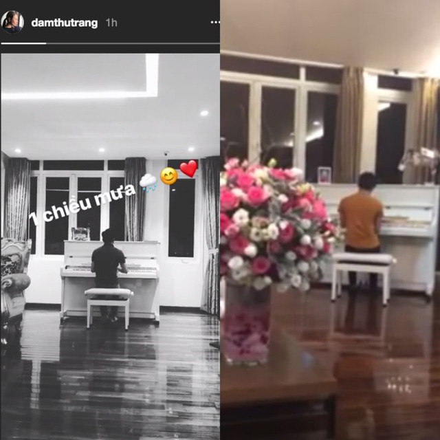 Nội thất căn hộ trong clip của Đàm Thu Trang trùng khớp với hình ảnh Cường Đô La quay clip chơi đàn tặng Hồ Ngọc Hà hồi năm 2014.