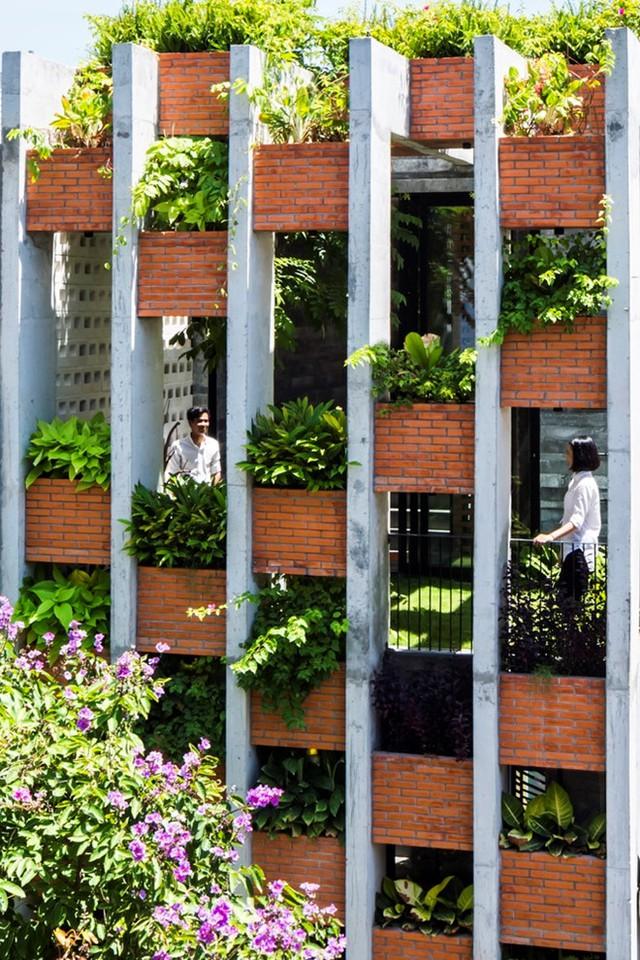 Công trình được lấy cảm hứng từ những khu vườn treo.