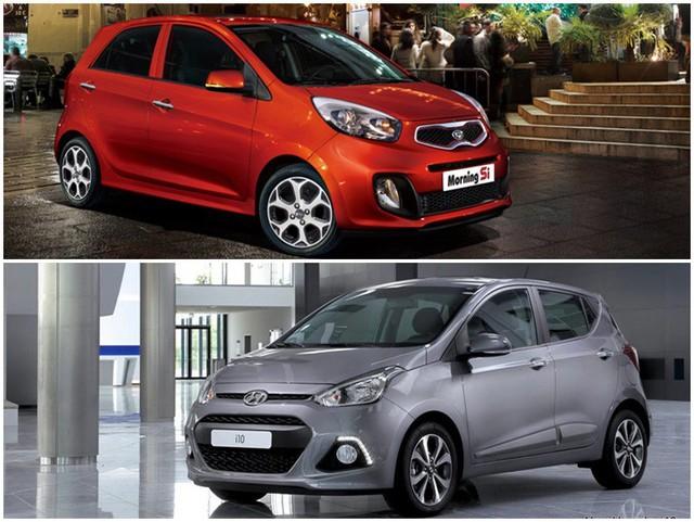 Phân khúc xe nhỏ hạng A đang diễn ra sự cạnh tranh khốc liệt giữa 2 thương hiệu đến từ Hàn Quốc .