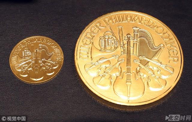 Cận cảnh những đồng tiền bằng vàng khối