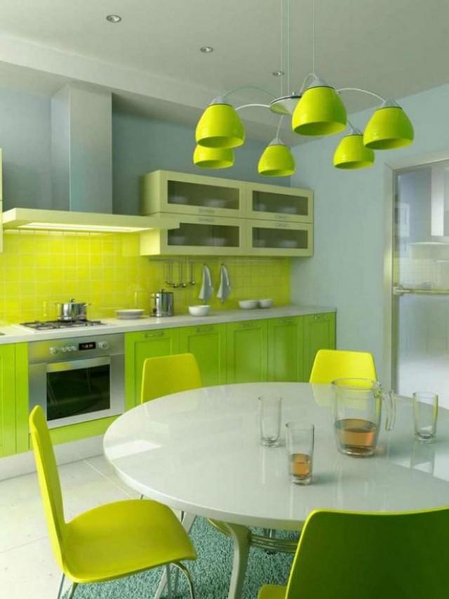 Tủ bếp với chất liệu Melamine bền, nhẹ, chắc, màu sắc rực rỡ, nổi bật như màu vàng chanh, màu cam là sự lựa chọn hoàn hảo cho gia chủ trẻ tuổi, năng động, đem đến sự tươi mới cho căn nhà của bạn.