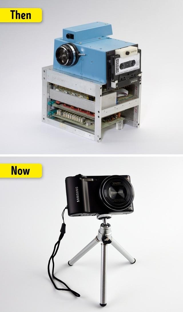 Camera ngày xưa khá nặng nề và không thể di động được.