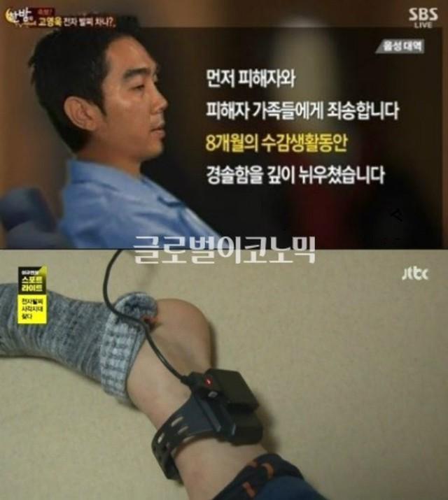 Vòng điện tử quản thúc mà Go Young Wook phải đeo trong 3 năm tiếp theo sau khi ra tù sớm.