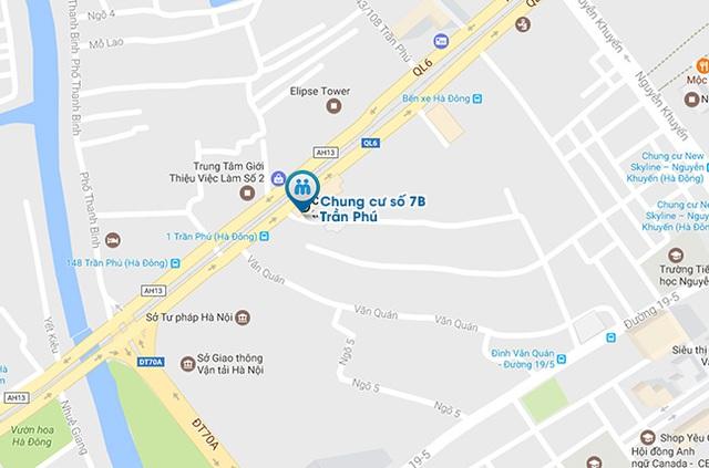 Bản đồ tới địa chỉ cửa hàng Muachung.vn số 7 Trần Phú, Hà Đông