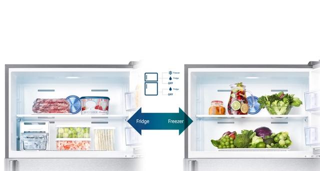 Tính năng Smart Conversion cho phép người dùng linh hoạt điều chỉnh trạng thái của ngăn đông và ngăn mát theo nhu cầu sử dụng