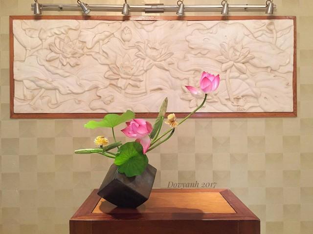 Nét thiền của Ikebana rất hợp với vẻ đẹp của sen