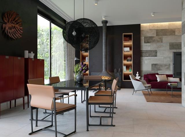 7. Cách phối hợp đồ nội thất trong thiết kế này rất tuyệt vời, sự ấm áp dường như có ảnh hưởng đến tất cả màu sắc trong căn phòng.