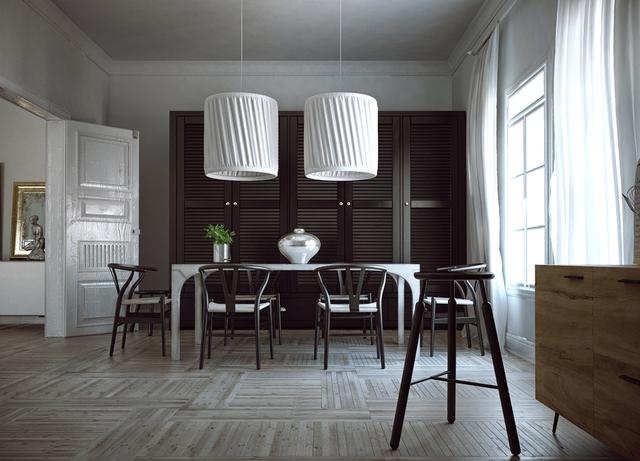9. Sử dụng gam màu tương phản cao có thể gây ấn tượng mạnh mẽ trong ngôi nhà với những chi tiết cổ điển. Bất kỳ thay đổi nhỏ nào cũng sẽ ảnh hưởng tới sự cân bằng của 2 sắc đen và trắng.
