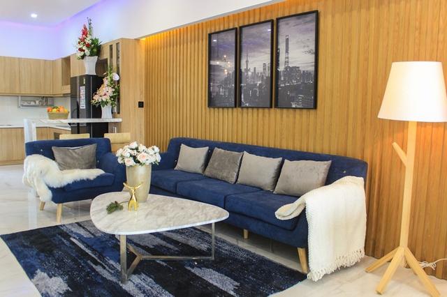 Shophouse Ngô Quyền được thiết kế với hai tầng lửng, bao gồm không gian tầng trệt để kinh doanh và không gian để ở tại các tầng trên