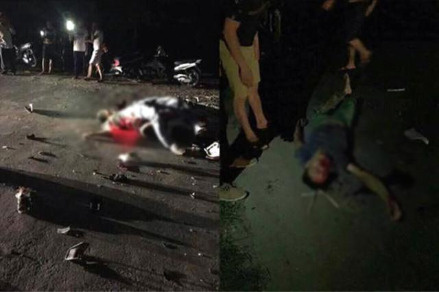 Hiện trường vụ tai nạn khiến một người tử vong. Ảnh: N.Chất
