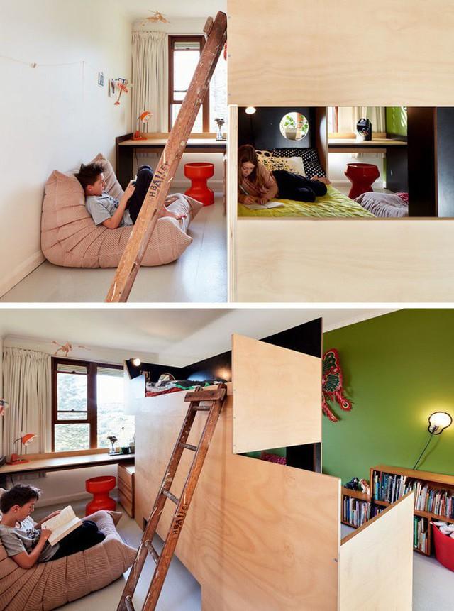 3. Giường tầng được gia công bằng gỗ có thể giúp chủ nhân của nó có nhiều không gian nghỉ ngơi hơn, giúp tạo không gian riêng tư cho đứa trẻ mà vẫn đảm bảo được cảm giác thoải mái, dễ chịu.
