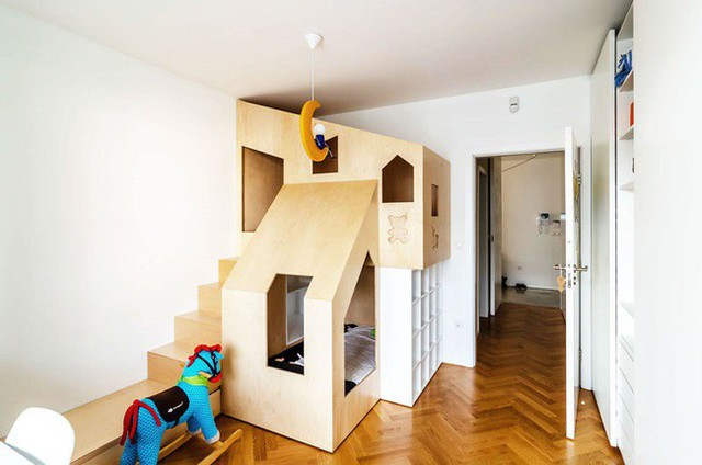 4. Giường tầng của trẻ trong nhà có nhiều chức năng hơn bạn tưởng đấy.