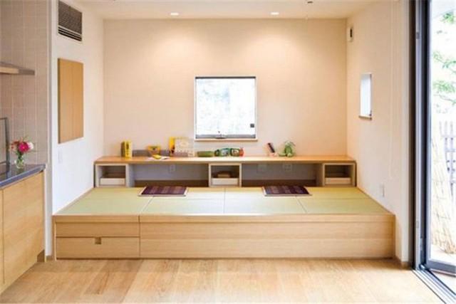 Không gian giật cấp được thiết kế theo phong cách Nhật, đơn giản nhưng tối ưu hóa được chức năng và nhu cầu sử dụng.