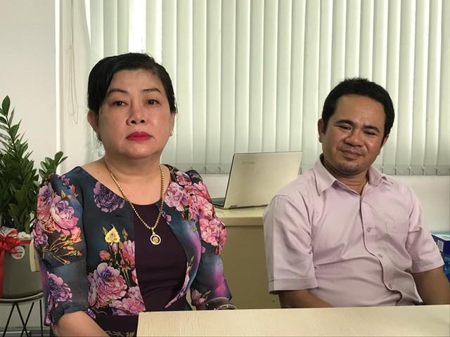 Bà Dung Bình Dương và luật sư Lê Trạch Giang.