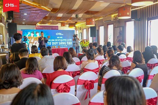 Sự kiện nằm trong chuỗi các hoạt động chào mừng khai trương cơ sở mới của Trung tâm Phát triển Tư duy và Sáng tạo Quốc tế CMS Việt Nam tại Lê Đại Hành.