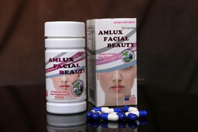 Viên nang Amlux Facial Beauty đang được quảng cáo như thuốc chữa bệnh. Ảnh: TL