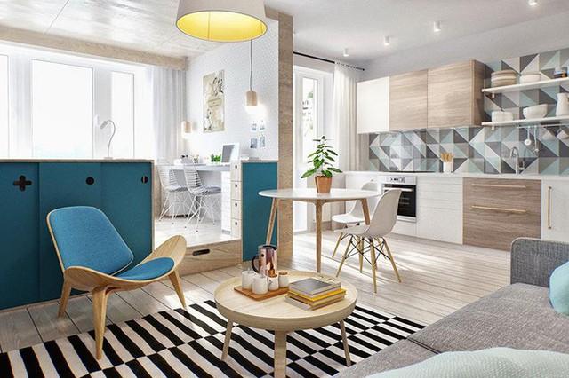Các gia đình thường sử dụng chất liệu gỗ sáng màu để lát sàn nhằm tạo ra một không gian hiện đại, tươi sáng.