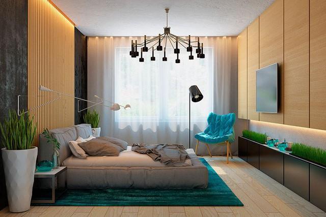 Chất liệu gỗ dễ dàng mang đến người dùng những giây phút nghỉ ngơi, thư giãn thoải mái bên trong phòng ngủ.