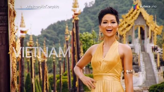 Một số hình ảnh của Hhen Niê trong Miss Universe 2018.
