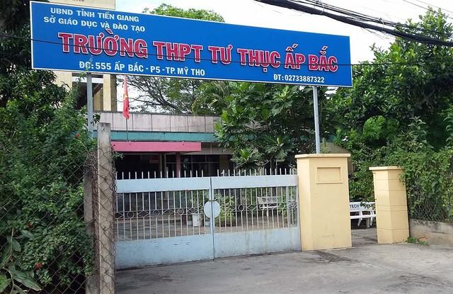 Trường THPT Tư Thục Ấp Bắc nơi nữ sinh N. theo học
