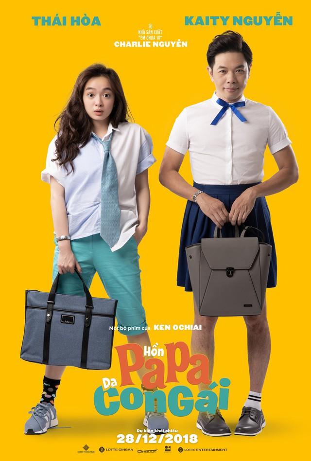 Hồn papa, da con gái có nội dung dựa trên nguyên tác của người Nhật, với sự tham gia của bộ đôi Kaity Nguyễn - Thái Hòa.