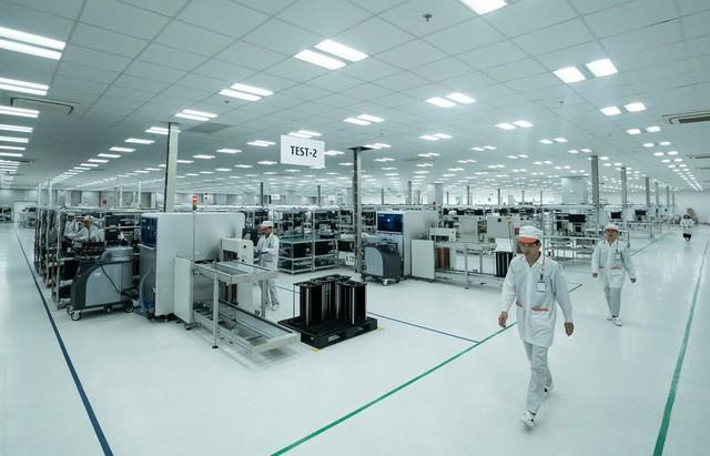 Toàn cảnh nhà máy dành cho sản xuất các sản phẩm điện tử tại Hải Phòng.