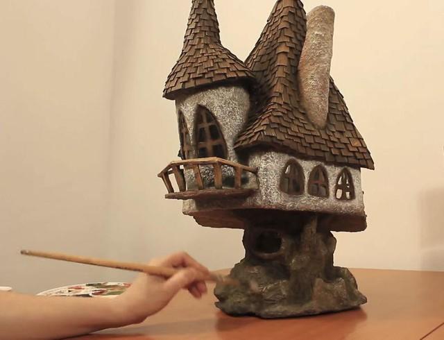 Và đây là thành quả - kiệt tác nghệ thuật của cô nàng khéo tay sau khi tận dụng mọi thứ có thể.