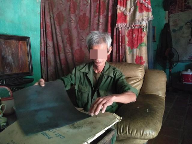Ông Nguyễn Thiện Tâm, người bị ung thư tại thôn Thắng Long, xã Yên Lâm, Yên Định.