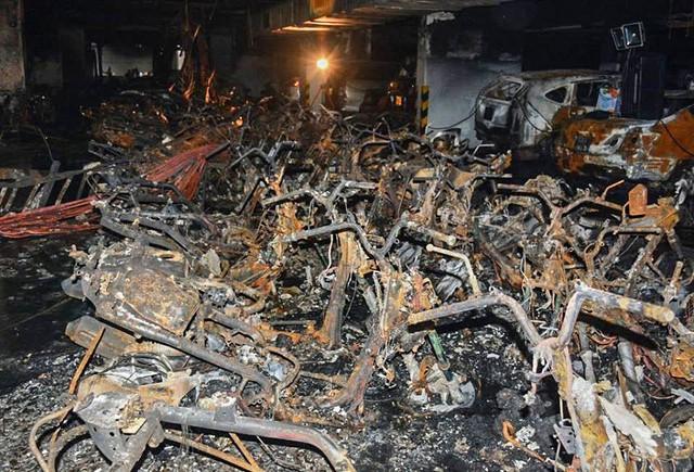 Thiệt hại trong các vụ cháy chung cư rất lớn nhưng nhận thức của người dân cũng như doanh nghiệp về bảo hiểm cháy nổ vẫn còn khá mơ hồ (Nguồn ảnh: Đời sống và Pháp lý).