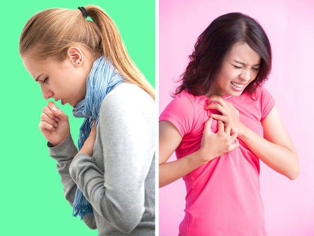 Khó thở hoặc đau ngực, đặc biệt là sau khi hoạt động, là một triệu chứng khác của thiếu sắt.