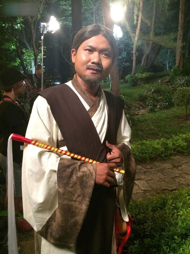 Diễn viên Thanh Tuấn trên phim trường làm Thiên thần 1001 (ảnh nhân vật cung cấp)