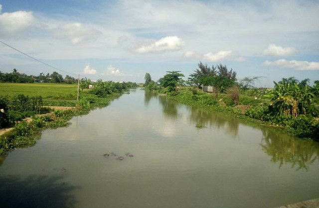 Kênh Hòa Bình đoạn chảy qua xã Đông Phương được nghi ngờ có cá sấu khổng lồ. Ảnh: S.M