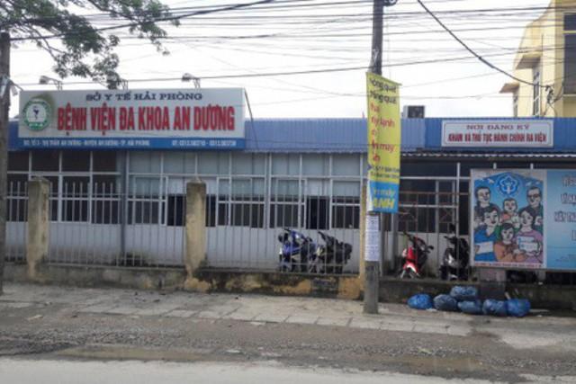 Nữ bác sĩ Bệnh viện Đa khoa huyện An Dương bị hành hung đánh gãy răng. Ảnh: TL