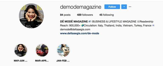 Instagram tạp chí với 489 người theo dõi và 84 bài đăng cùng thông tin không rõ ràng.