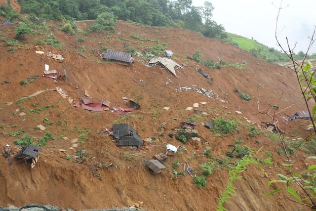 Sạt lở tại bản Sáng Tùng (xã Tả Ngảo, huyện Sìn Hồ, tỉnh Lai Châu), 28 ngôi nhà bị xóa sổ. Ảnh: PV