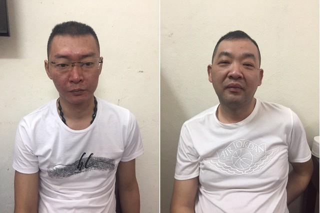 Tiền Hồng Lương và Trương Tuấn Cường bắt giữ người trái phép. Ảnh: H.Tân