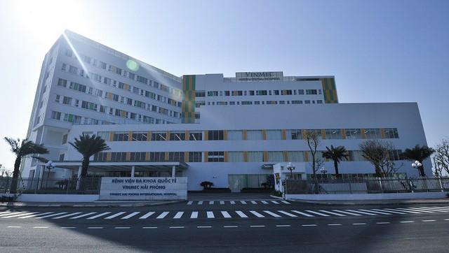 Bệnh viện ĐKQT Vinmec Hải Phòng tọa lạ trên đường Võ Nguyên Giáp (quận Lê Chân)