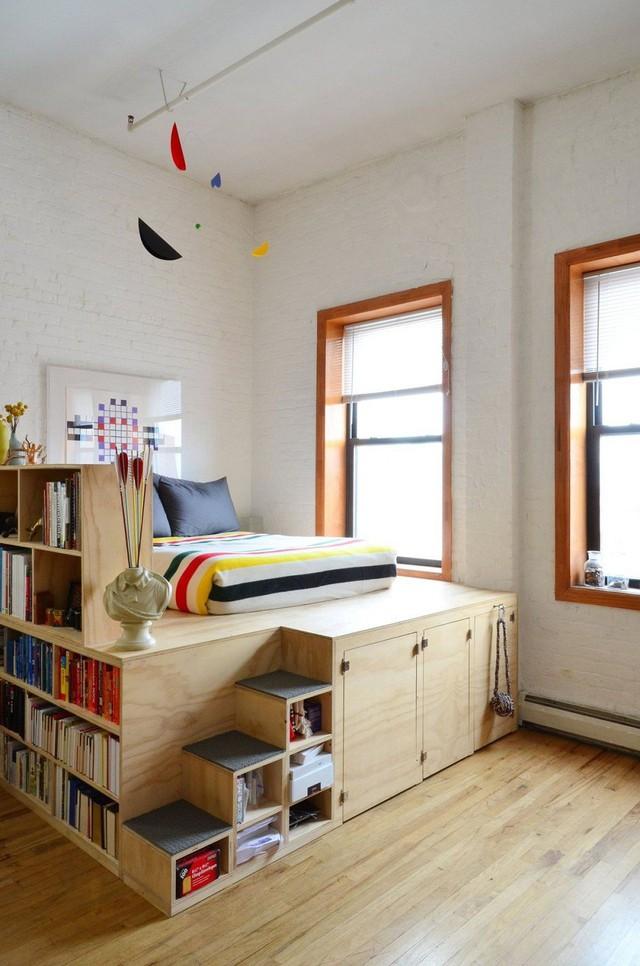 8. Một thiết kế giường với một không gian lưu trữ khổng lồ.